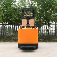 Pallet stacker (station driving) - Orange (adjustable fork) Yufeng factory