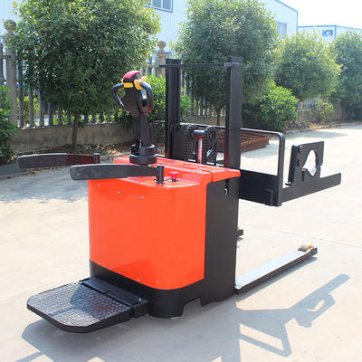 Pallet stacker (standing driving) electric stacker forklift solution