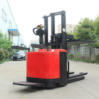 Electric Pallet stacker (standing) - red (load stabilizer) easy operation