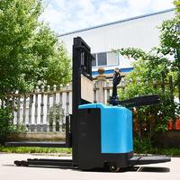 Blue pallet stacker (station drive) professional power stacker forklift maker